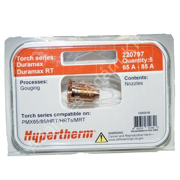 Hypertherm fúvóka - Duramax - PMX65/PMX85/HRT/HRTs/MRT - 65-85A - 220797 - 5db/csomag