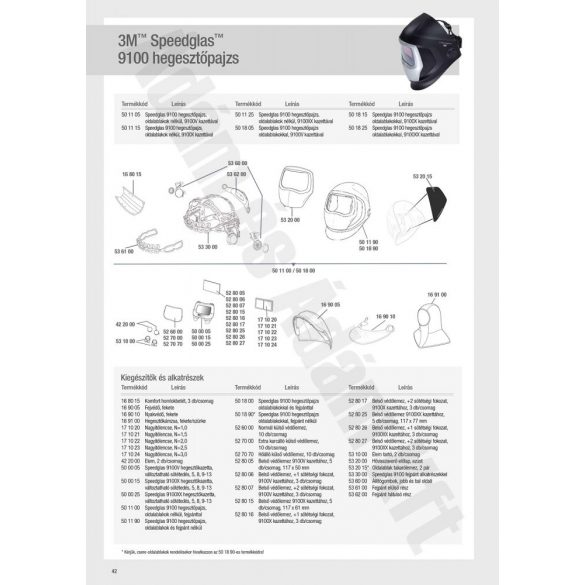 Speedglas 9100 külső védőplexi - standard - 526000