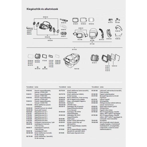 Speedglas 9100, G5-01 külső védőplexi - standard - 526000