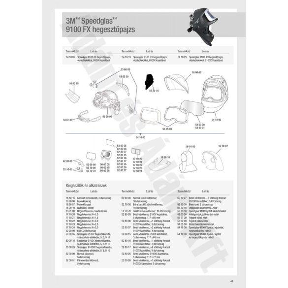 Speedglas 9100, G5-01 külső védőplexi - hőálló - 527070